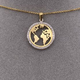 18k Gold Pendant with the Mudi Map