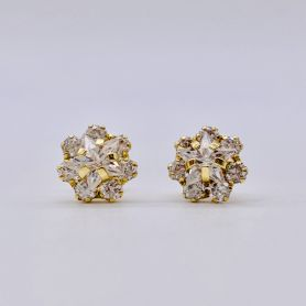 18k Gold Earrings with Zircons