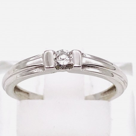 18k White Gold Ring with a Diamond