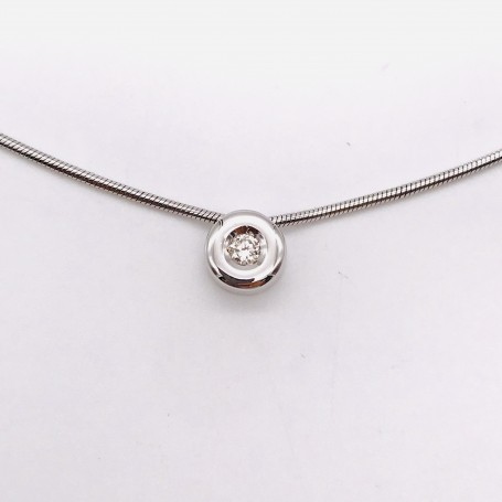 18k White Gold Choker with Diamond