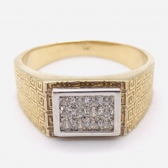 18k Gold Ring with Zirconias
